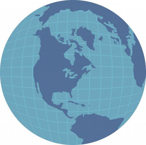 America Globe