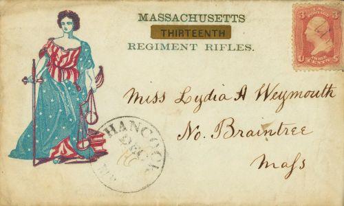american civil war vintage envelope