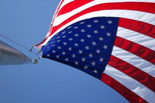 american flag flag pole patriotic