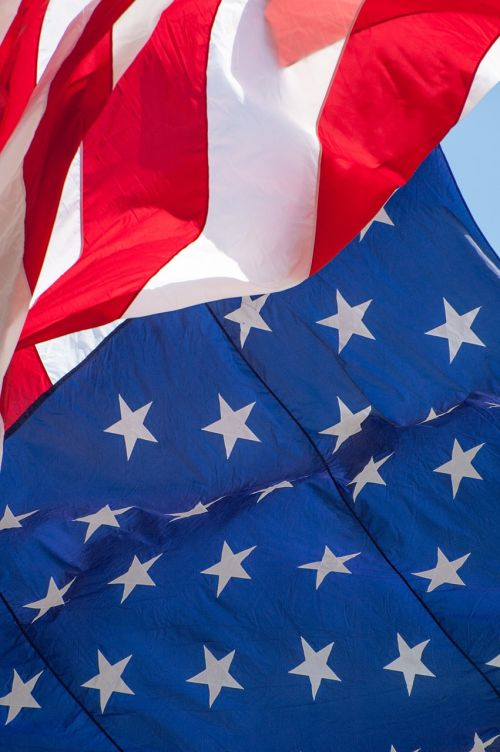 american flag flag waving