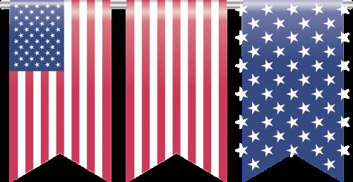 american flag bookmark element