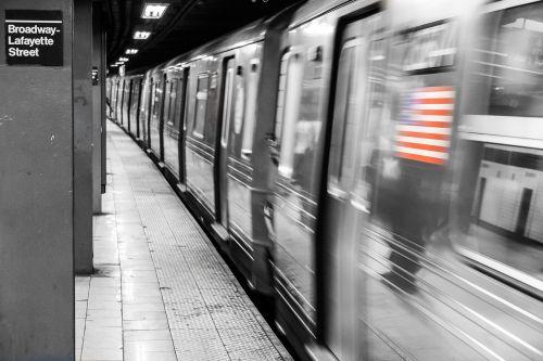 american flag metro station