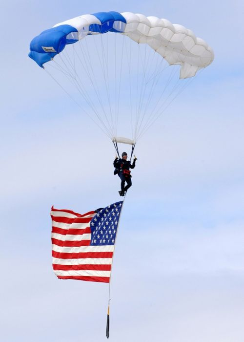 american flag old glory flying in