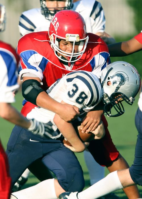 american football tackle game