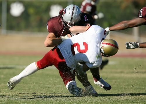 american football quarterback sack tackle