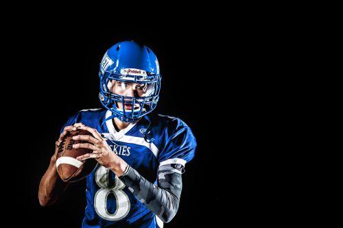 american football athlete ball