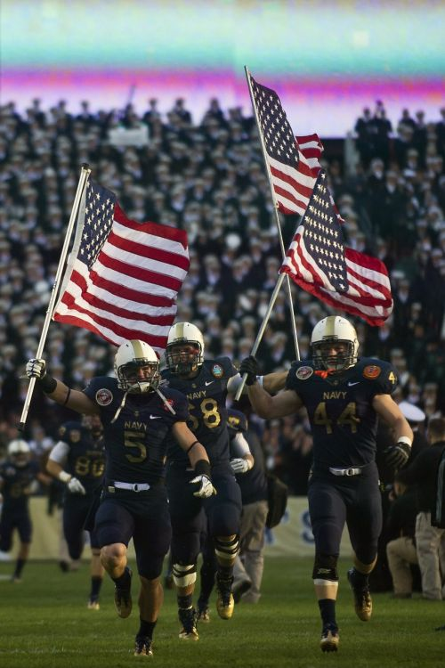 american football army navy game players