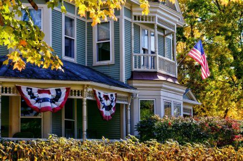 vėliava, amerikietis, prasideda & nbsp, juostelės, Šalis, americana, usa, nepriklausomybė & nbsp, diena, 4th & nbsp, liepos, veteranai & nbsp, diena, taika, darbo diena & nbsp, memorialinis & nbsp, diena, namai, amerikietiškas namas