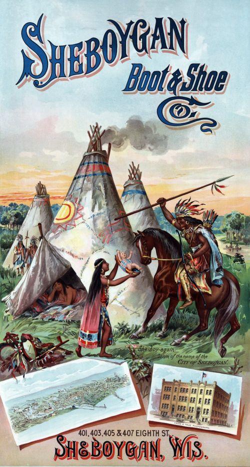 American Indians Vintage Poster