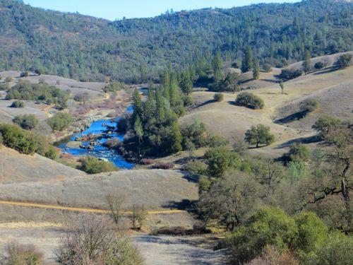 upė, vanduo, kraštovaizdis, parkas, pievos, amerikietiška upė cronam rančiuose