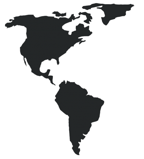 americas map america