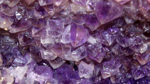 amethyst semi precious stone violet
