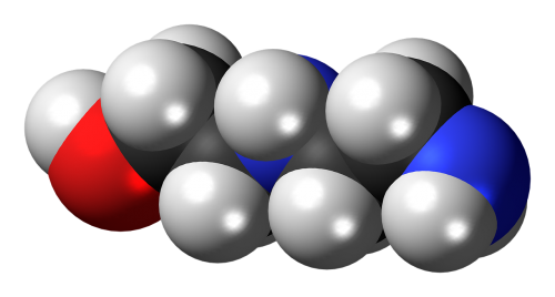 aminoethylethanolamine spacefill model