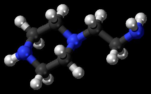 aminoethylpiperazine ball stick