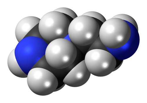 aminoethylpiperazine spacefill model