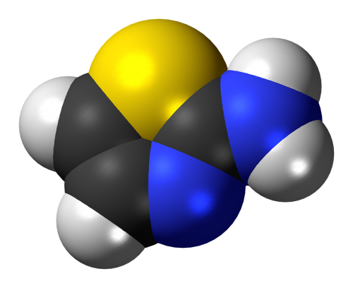 aminothiazole spacefill model
