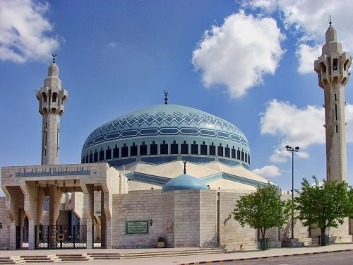 amman jordan blue mosque