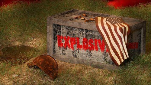 ammunition box flag
