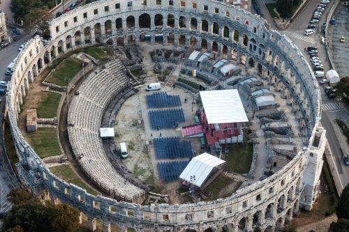 amphitheater pula croatia