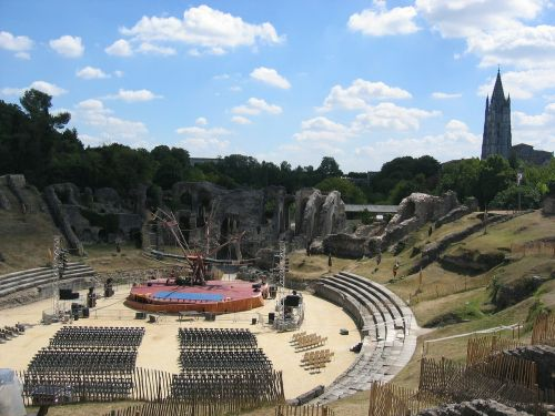 amphitheater theater stage