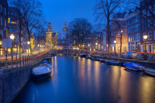 amsterdam night canals