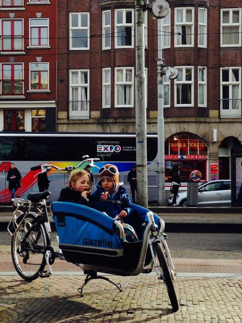 amsterdam children bicycle