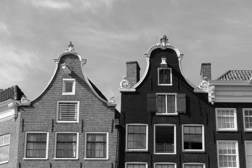 amsterdam gable black and white