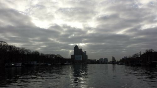amsterdam amstel clouds