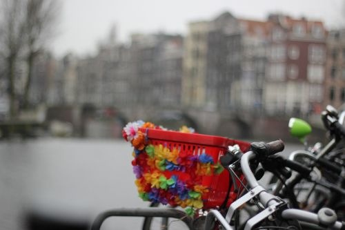 amsterdam bicycle winter