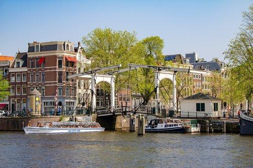 amsterdam  channel  drawbridge