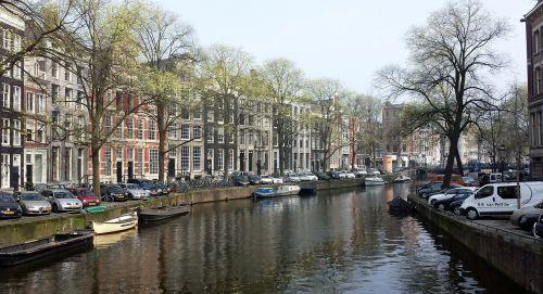 Amsterdamas,kanalas,Nyderlandai