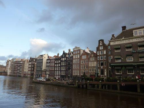 Amsterdamas,Nyderlandai,namai