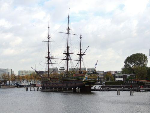Amsterdamas,bateau,wa,vanduo,Nyderlandai