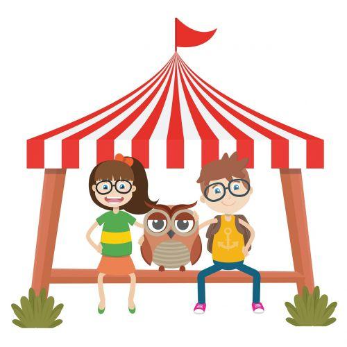 amusement park owl tent