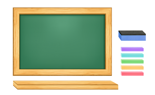 an array of green blackboard blackboard