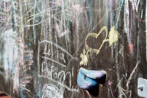 an array of graffiti heart