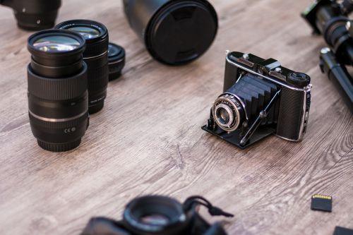 analog camera old lenses