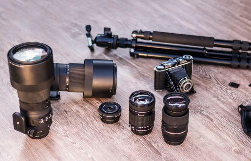 analog camera lenses tripod