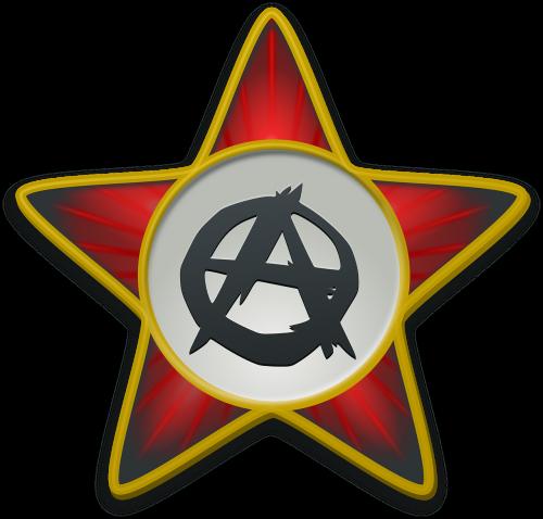 anarchist star star red