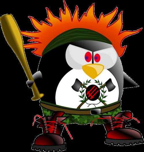 anarchy punk penguin