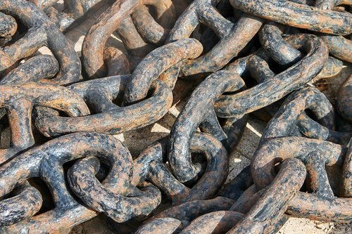 anchor chain  chain  rusty