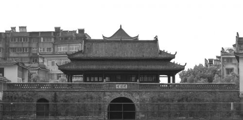 ancient architecture anqing a watchtower
