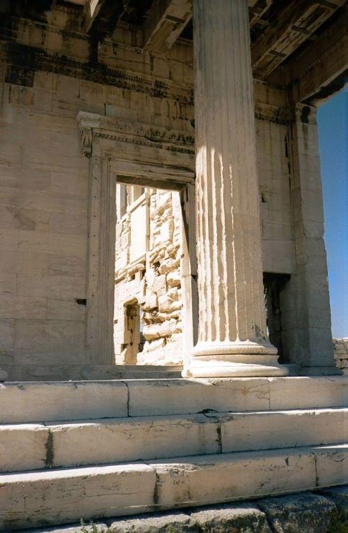 Ancient Building, Pillar In Rhodos