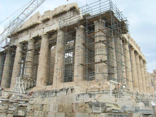 ancient ruins acropolis restoration