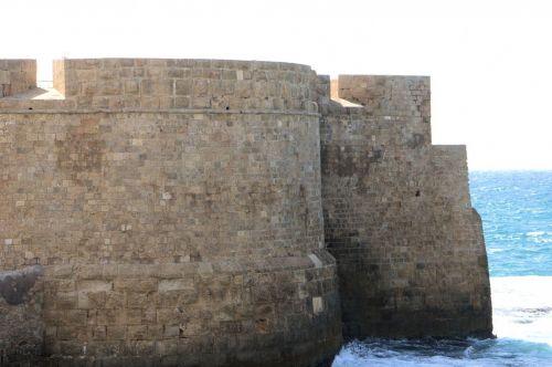 Ancient Sea Walls In Acco, Israel