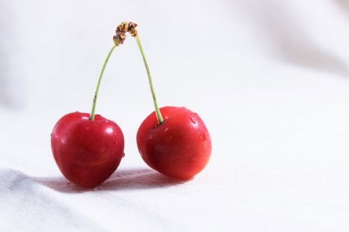 and cherries red fruit