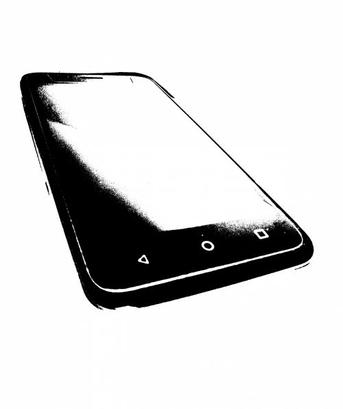 Android Mobile Phone - Clip Art