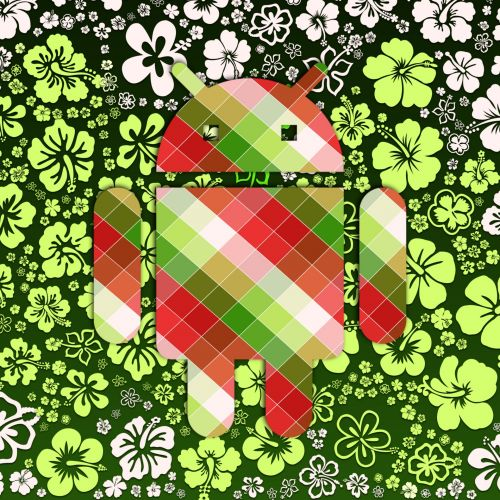 Android On Green Flowers