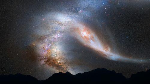 andromeda galaxy milky way collision