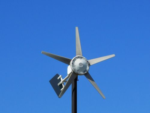 anemometer wind blue